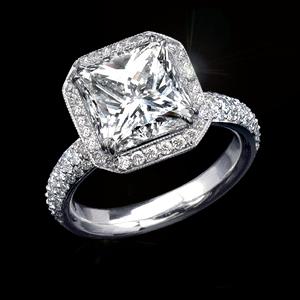 Кольцо с бриллиантом 6 карат