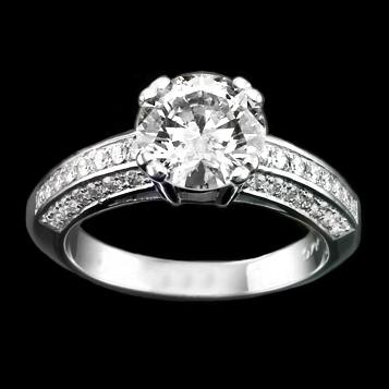 кольцо с бриллиантом 0,20 карат Сердце